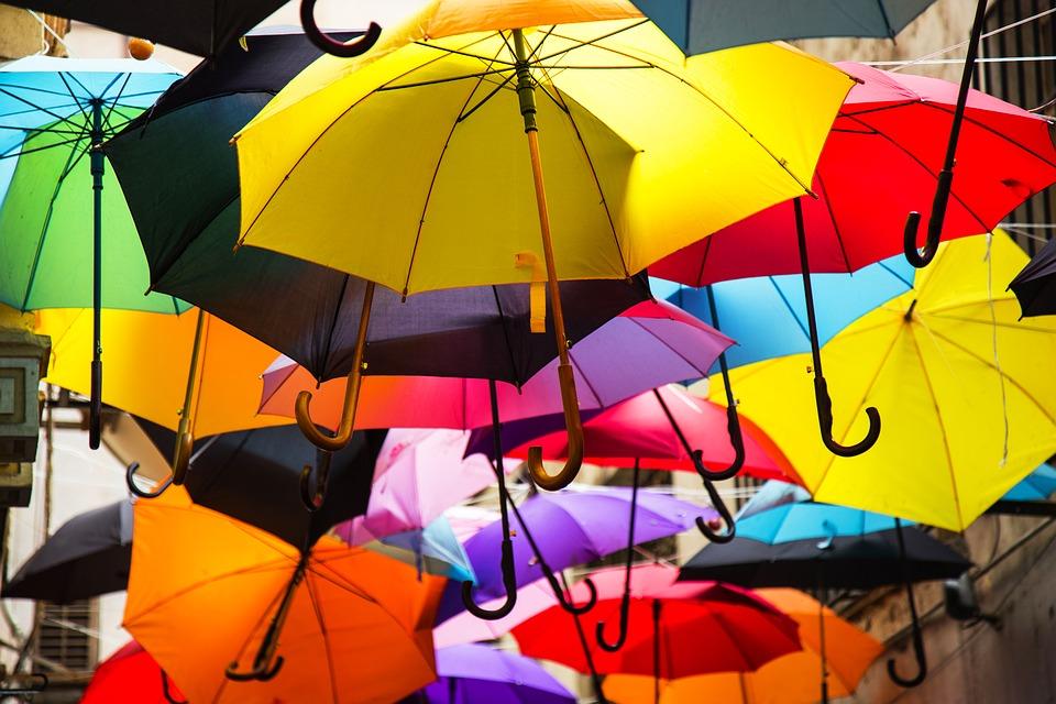 barevné deštníky