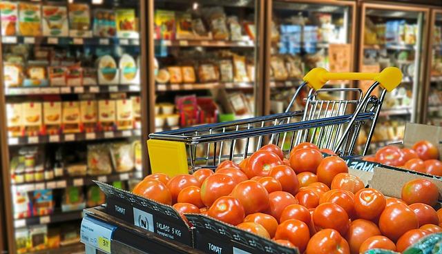 rajčata v prodejně