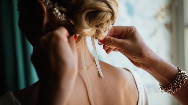 nevěsta - poslední přípravy