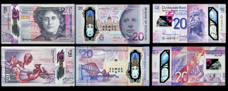 skotské peníze